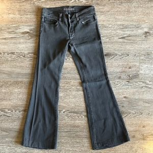 J Brand Grey Low-Rise Bell Bottoms. - Retro 90s